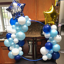 Blue and White Graduation Hoop
