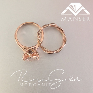 rose-gold-and-morganite-weddIng-ring-set