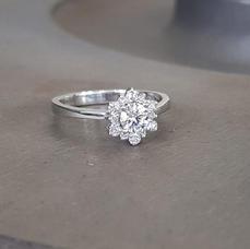 Snowflake Moissanite Ring
