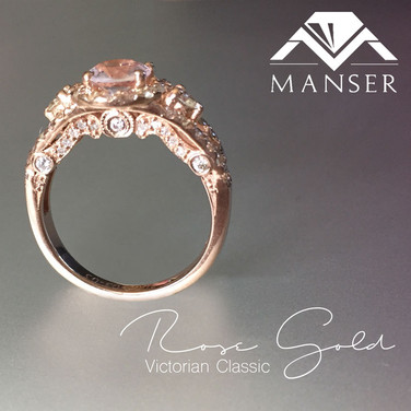 Vintage Style Rose Gold and Diamond Ring.jpg