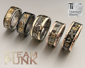 steampunk vintage watch movement ring-co