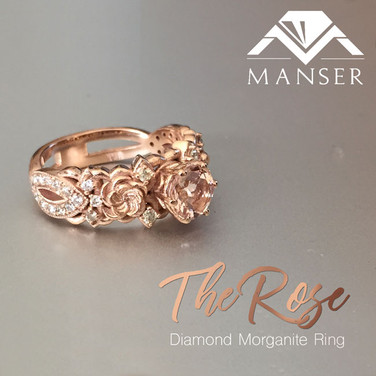 The Rose Custom Designed and Cast Rose Gold and Diamond Engagement Ring.jpg
