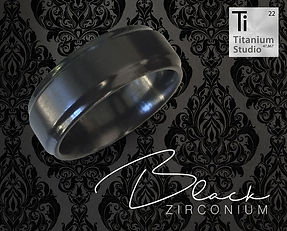black ring, black wedding ring, black zirconium ring, zirconium