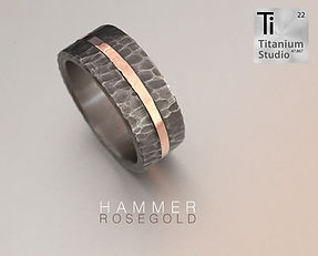 hammered-tiodized-titanium-ring-with-ros