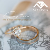 His and Hers Custom Made and designed Engagement Ring and Wedding Band.jpg