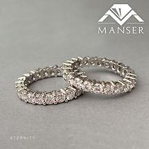 Full eternity Moussanite Wedding Rings
