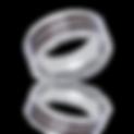Titanium Ring, Titanium, Wood inlay Titanium Ring