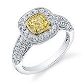 yellow diamond, fancy diamond, yellow fancy diamond ring