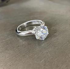 2ct Round Moissanite Ring
