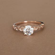 Rose Gold Moissanite Ring