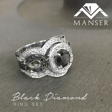 black-diamond-ring-set-and-matching-wedd