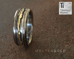 Molten-gold-and-silver-rustic-ring-only.