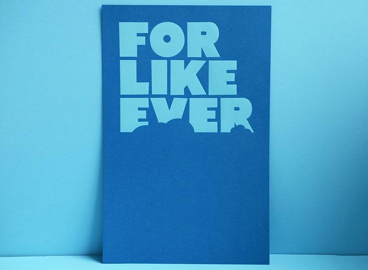 Blue Foil on Blue / 11x17
