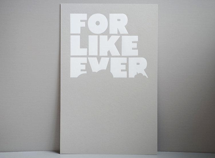 White Foil on Grey / 11x17