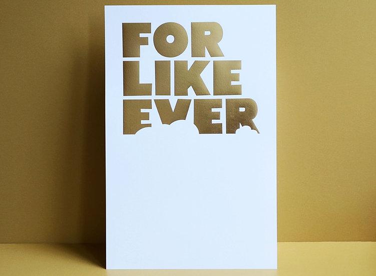 Gold Foil on White / 11x17