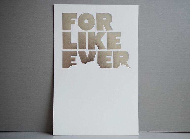 Silver Foil on White / 11x17