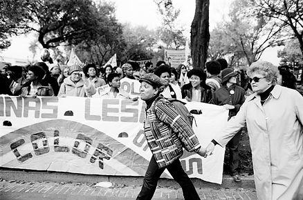 '79 Gay March A.Lorde & Frances Clayton.