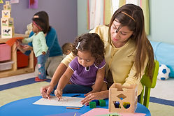 preschool childen in classroom
