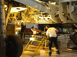 Engineer working on A-320