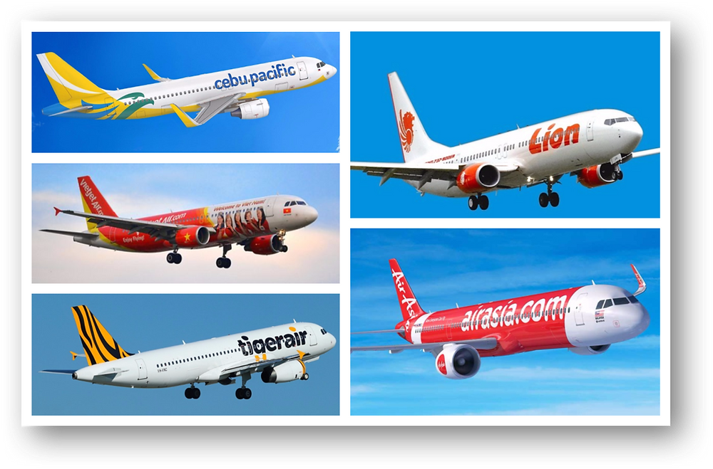 Figure 3: Top Low Cost Airlines in Southeast Asia