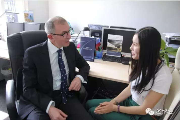 Emma Zhong and Brookfield CEO, David George