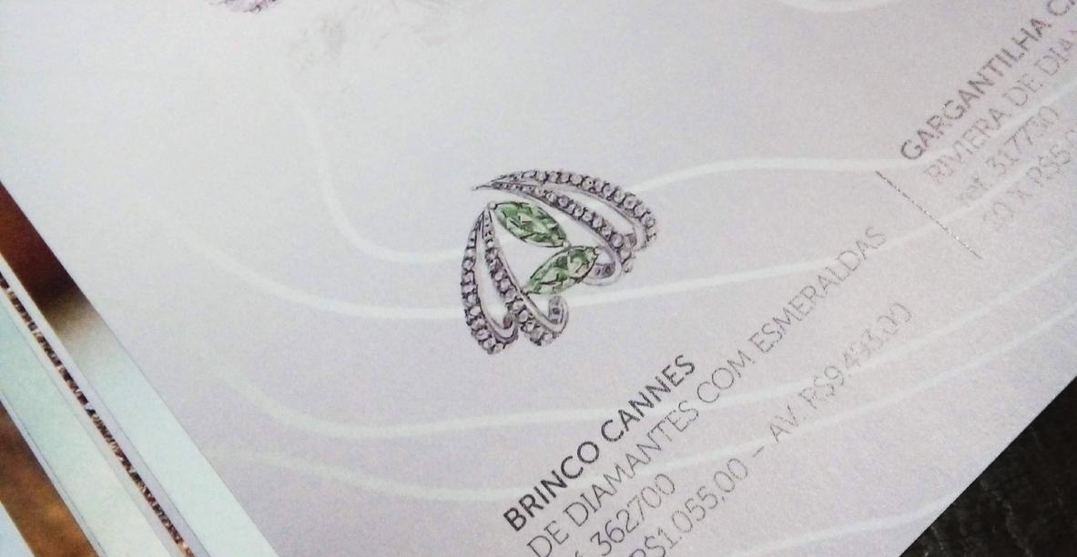 Detalhe miolo catálogo