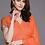 Thumbnail: Women Orange & Golden Checked Kurta with Palazzos & Dupatta