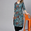 Thumbnail: Women Blue & Black Printed Kurta with Trousers