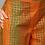 Thumbnail: Women Mustard Yellow & Green Khari Print Kurta with Palazzos & Dupatta