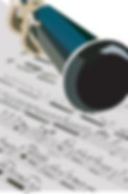 Music Notes sheet & Flute | Illustration digital
