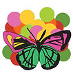 Digital illustration of butterfly colorful