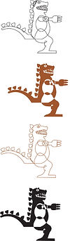 Dino Dragon Skeleton Study 1 | Illustration digital