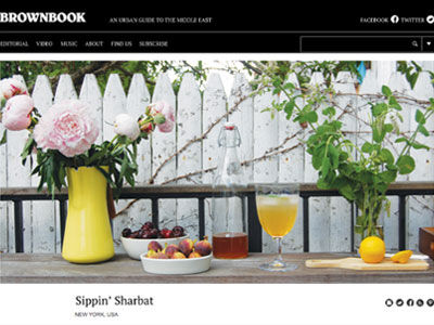 Sippin' Sharbat sekanjabin recipe honey vinegar | Brownbook Magazine - Tehrangeles Issue by Azita Houshiar