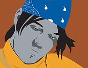 DFW David Foster Wallace banadan portrait illustration digital