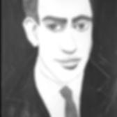 J.D. Salinger Portrait Drawing Illustration in a suit with tie