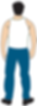 Digital illustration dude wifebeater blue jeans guy
