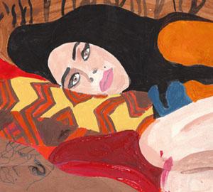 Amy Winehouse portrait beehive collage by Azita Houshiar