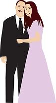 Bride & Groom digital illustration