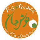 Fig & Quince (Persian food blog) label | Illustration digital
