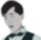 Chinese Waiter uniform digital illustration