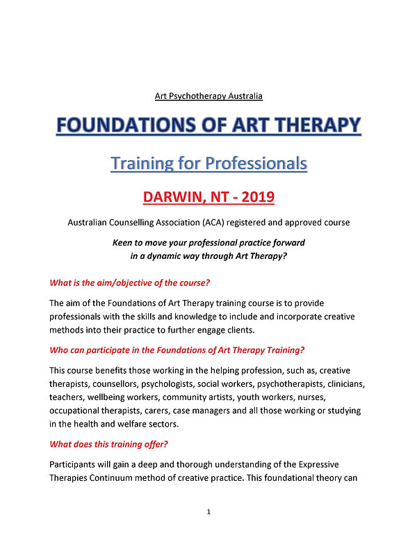 DARWIN, Foundations of Art Therapy (deta