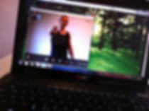 Skype Fitness Bootcamp na laptopu