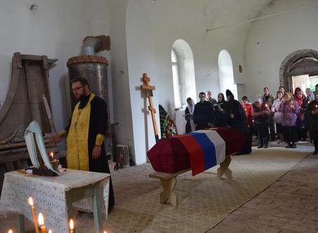Захоронение останков воина Великой Отечественной войны в г. Горбатове