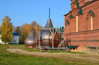 Изготовление куполов на Покровский храм
