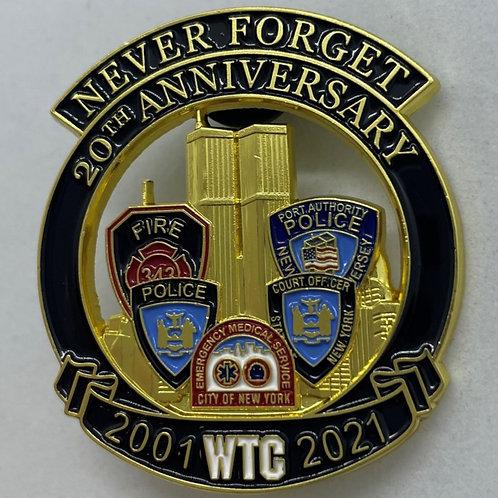 9/11 20th Anniversary Pins