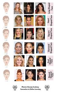 Celebrity face shape chart