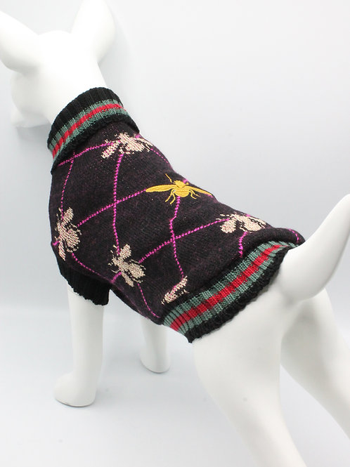 Pull Jacquard Bee Queen