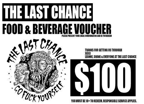 $100 Last Chance Corona Voucher