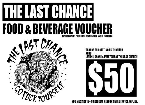 $50 Last Chance Corona Voucher