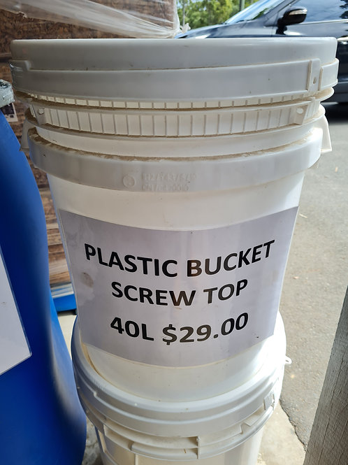 Plastic Bucket Screw Top 40L